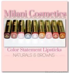 Milani Cosmetics Color Statement Lipstick: Naturals & Browns