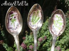 spoon plant markers, crafts, gardening