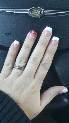 Christmas Pedicure Designs French Tips 60 Ideas Christmas Nail Designs, Christmas Nail Art, Holiday Nails, Pedicure Designs, Cute Nail Designs, Nail Stamping, French Nails, Winter Nails, Toe Nails