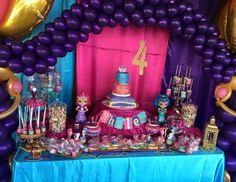 """Shimmer and Shine / Birthday """"Rhylee's Shimmer and Shine 4th Birthday Party"""" 