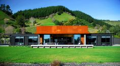 Modern House Green by Guy Herschell Architects