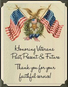 Veteran's Day November 11 God Bless Each and Every One of You & Your Families…. You Will Never Be Forgotten !!