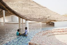 """Toshiko Mori speaks to Architizer about material research innovation and """"common sense sustainability""""/ This is the Thread Artist Residency in Senegal by architizer Pool Bar, Sustainable Architecture, Interior Architecture, Japanese Architecture, Interior Design, Porches, Afro, Casamance, Water Collection"""