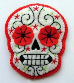 Lovely Sugar Skull from Suzi Rocker - Would be awesome to make as Halloween coasters