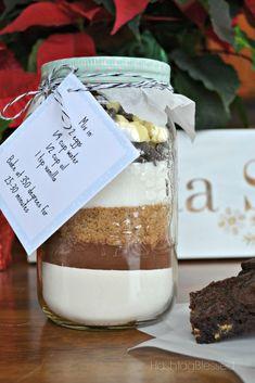 Fudge-y Brownies in a Jar