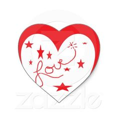 Love is All You Need Heart Stickers