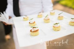 Amy Campbell Photography.  Little Croque Madame with Black Forest Ham, Gruyere and Fried Quail Egg by Apiary Fine Catering and Events.  One Fine Day.  Kentucky Wedding.