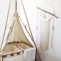 Gorgeous cradle for twins. For day and night. All organic.
