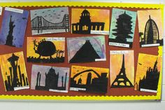 One of my favorites! I did the famous building silhouettes with the 3rd graders and they turned out great!