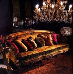 velvet tuffed sofa....velvet cushions..love it so much. This would be so yummy in my lounge.