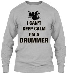 Discover I Can't Keep Calm I'm A Drummer T-Shirt, a custom product made just for you by Teespring. - Men's I Can't Keep Calm I'm A Drummer Shirt. Cheap Hoodies, Cheap T Shirts, Cool T Shirts, Tee Shirts, Drumline Shirts, Drummer T Shirts, Cool Shirt Designs, Male T Shirt, Evolution T Shirt