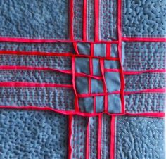 Play of Lines XXXVII, detail, by Uta Lenk (Germany) as seen at International Threads.  Hand stitching.