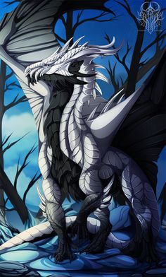 White Dragon Called Death by HarrietMilaus.deviantart.com on @DeviantArt