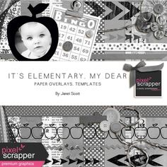 It's Elementary, My Dear - Paper Overlays and Templates Bundle