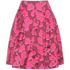 Oscar de la Renta Printed Silk-Blend Skirt (117.350 RUB) ❤ liked on Polyvore featuring skirts, pink, oscar de la renta, oscar de la renta skirt and pink skirt