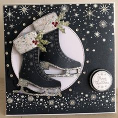 Stamps by Chloe - JUL056 Ice Skate - Stamps by Chloe - Stamps - Stamps Tools & More - Crafts, Die Cutting, Cross Stitch Kits, Embossing Folders, Stamps, Jigsaw Puzzles and more!