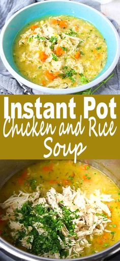 Only 10 minutes of active prep time for this comforting Chicken and Rice Soup! - Only 10 minutes of active prep time for this comforting Chicken and Rice Soup! It's a breeze to make in the Instant Pot. 241 calories and 5 Weight Watchers Freestyle SP Best Instant Pot Recipe, Instant Pot Dinner Recipes, Easy Dinner Recipes, Easy Meals, Gluten Free Recipes Instant Pot, Gluten Free Soups, Simple Soup Recipes, Gluten Free Dinners, Chicken Rice Soup