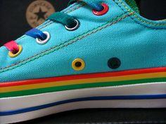 converse ★★ rainbow blue OMG RAINBOWDASH SHOES