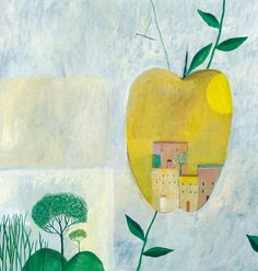 Ville verte by Aurelia Fronty Plant Illustration, Illustration Sketches, Drawing Sketches, Drawings, Art Story, Colour Schemes, Watercolor Flowers, Art Lessons, Concept Art