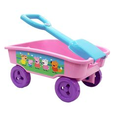 Peppa Pig Shovel Wagon Have a fun day of play with the Peppa Pig Shovel Wagon! Pull along your favorite toys Handle detaches and can be used as a shovel for added play Perfect for the park, beach, or anywhere Designed for ages Toys Uk, Kids Ride On, Ride On Toys, Wheelbarrow, Electric Cars, Peppa Pig, Shovel, Toy Chest, Baby Strollers
