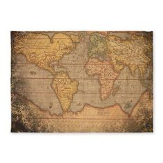 World map rug.