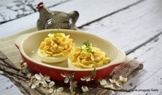 Crab-paste Stuffed Eggs - Cooklet