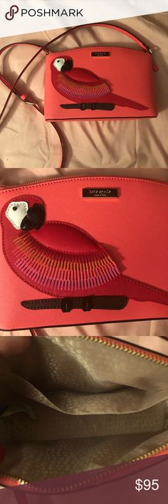 Kate Spade Parrot Macaw Millie Crossbody Used one time. In excellent condition! Practically new. kate spade Bags Crossbody Bags