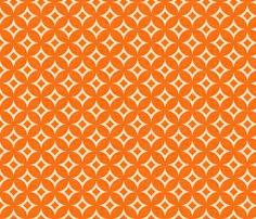 diamond_circles_orange fabric by holli_zollinger on Spoonflower - custom fabric