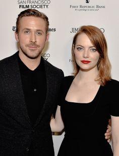 Ryan Gosling and Emma Stone attend the SF Film Society presents SF Honors: 'La La Land' at the Castro Theatre on December 8, 2016 in San Francisco, California.