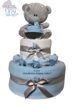 Official Me to You Tatty Teddy Nappy Cake for a baby boy by Coochy Coo Nappy Cakes www.coochycoonappycakes.co.uk