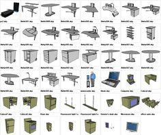 Sketchup Office 3D models download – CAD Design   Free CAD Blocks,Drawings,Details