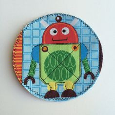 NEW Robot Designs  Robot Patches For Kids Iron On Knee or Elbow Patches by from Knee Caps by Aliljoy