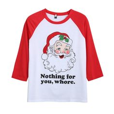Autumn T Shirt Women Christmas Santa Letter Print Long Sleeve Round Collareavengifts T-Shirts Shirt Sleeves, Neck T Shirt, Autumn T Shirts, Christmas Tops, Santa Letter, Casual Shirts, T Shirts For Women, Tees, Long Sleeve