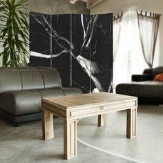 Wzór marmuru, Parawan ozdobny dwustronny na płótnie - Canvas