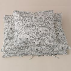 SOFT GALLERY ♥ BED SHEET AOP OWL - BABY