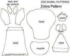 Zoo Animal Free Paper Piecing Patterns - Zebra Paper Piecing Pattern