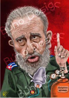 Caricatura Fidel Castro By Búho Design & Caricatiras Uruguay  http://www.buhodesign.com.uy/ http://www.caricaturasuruguay.com.uy/