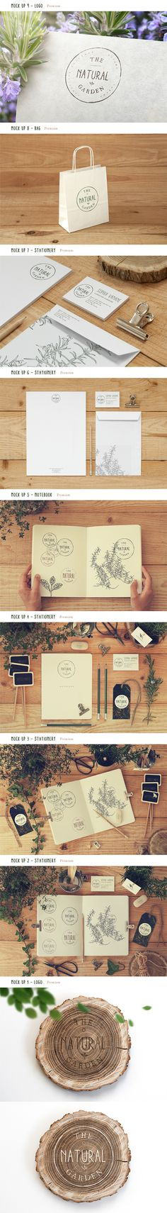 Collection 14 - Free & Premium Mock Ups by Qeaql ., via Behance