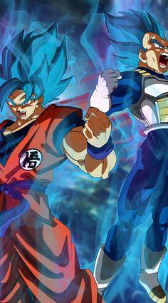 Goku and Vegeta - Best of Wallpapers for Andriod and ios Goku Wallpaper, Iphone Wallpaper, Desktop Backgrounds, Dragon Ball Z, Blue Dragon, Goku Blue, Fanart, Pokemon, Anime Merchandise