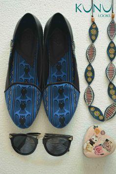 Manguni , batik manado, sepatu batik, flatshoes, leather shoes, owl
