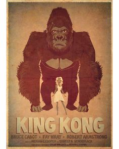 Alternative movie poster for King Kong by James Gilleard
