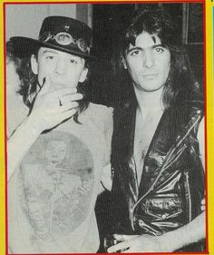 Stevie Ray Vaughn and Joe Demaio of Manowar