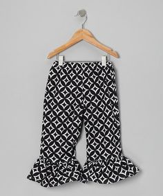 Take a look at this Black & White Anchor Capri Pants - Infant, Toddler & Girls by Waistin Away on #zulily today!