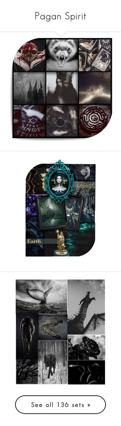 """""""Pagan Spirit"""" by annette-heathen ❤ liked on Polyvore featuring art, goddess, Hecate, aesthetic, moodboard, mythology, persephone, Ireland, Celt and modern"""