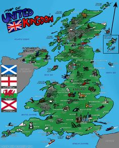 map of UK and facts for kids