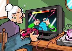 Tecno Humor  La tecnología es para todas las edades. ¡Es viernes, a relajarse!