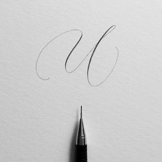 Letter U. Hoping to get through the rest of the alphabet before the end of 2017. #ep_letters #pencillettering #pencilcalligraphy #abcs_u