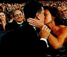 Stephen and Evie kiss at the Emmys