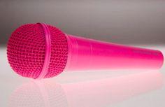 Pink microphone #PrimerasVecesbyCyzone