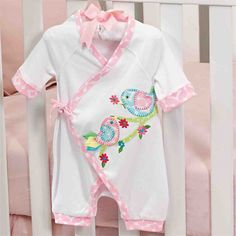 A unique and stylish look for your baby girl's one piece! This soft cotton kimono style one-piece has a beautiful dimensional chick applique complete with ribbon tails and colorful trim. Mud Pie Clothing, Childrens Shop, Baby Girl One Pieces, Girl Outfits, Cute Outfits, Cotton Kimono, Baby Girl Gifts, Kimono Fashion, My Princess